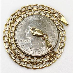 """14K Gold 3MM Link Chain Bracelet 7"""""""